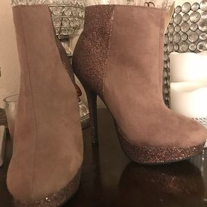 Forever 21 Brown ankle heel boots